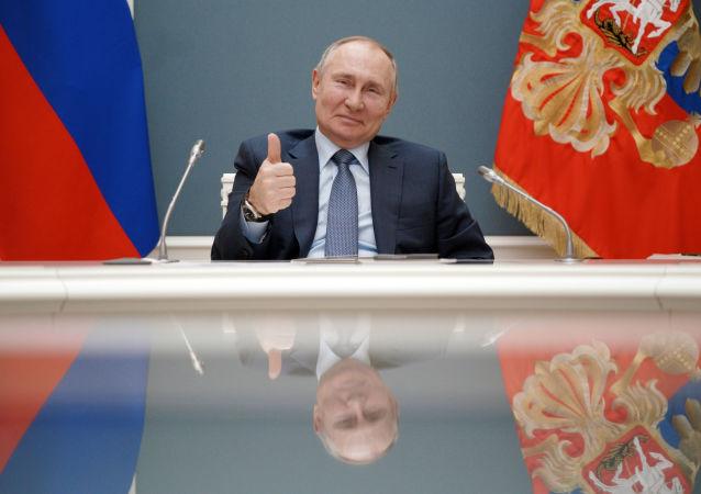 رئیس جمهور روسیه، در یک کنفرانس ویدئویی.