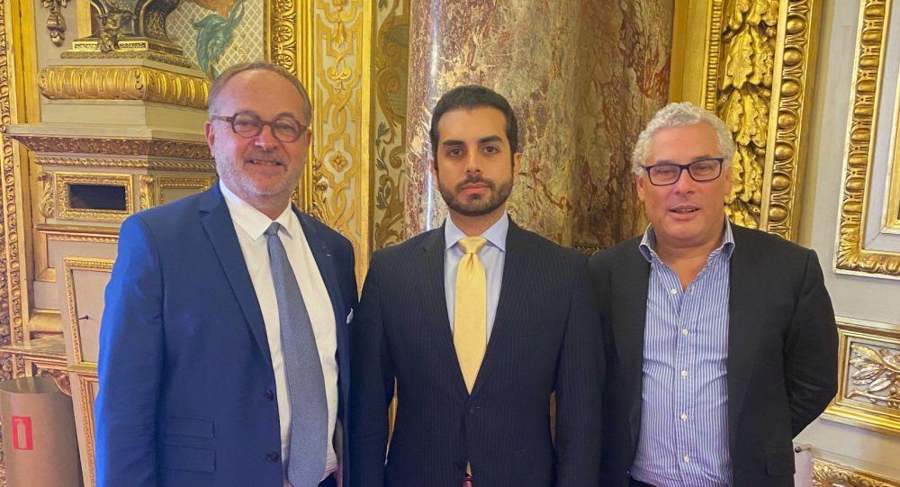 دیدارمسئول روابط خارجی جبهه ای مقاومت با دبیر مجلس سنای فرانسه