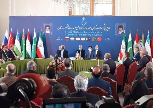 آغاز اجلاس وزرای خارجه کشورهای همسایه افغانستان