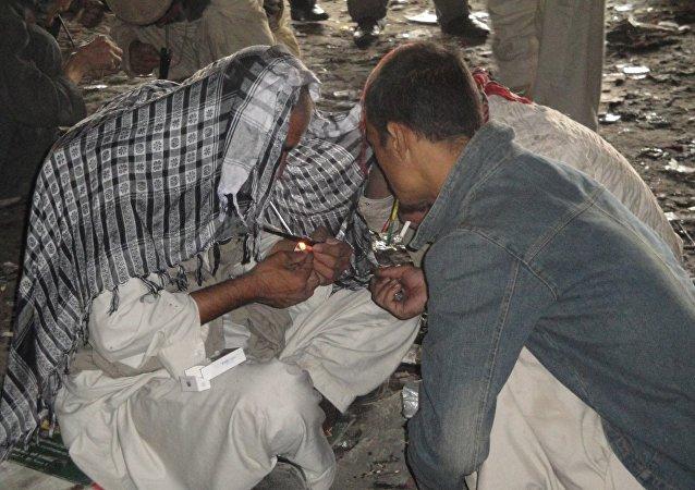 تداوی متعادان مواد مخدر در زندان هلمند توسط طالبان