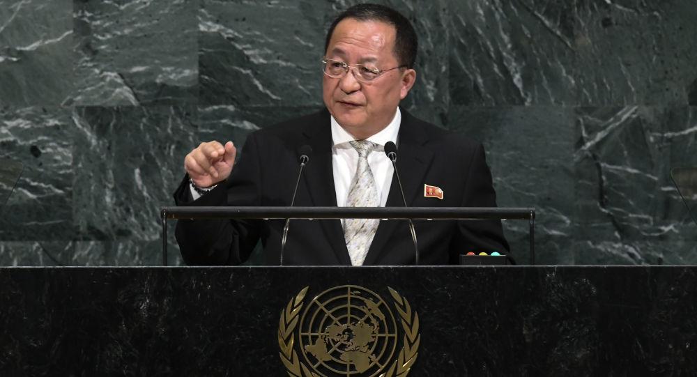 وزیر خارجه کوریای شمالی در نشست سازمان ملل حمله راکتی به امریکا را اجتناب ناپذیر خواند
