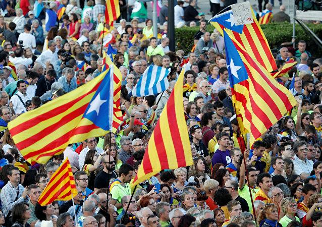 Partidarios de la independencia de Cataluña
