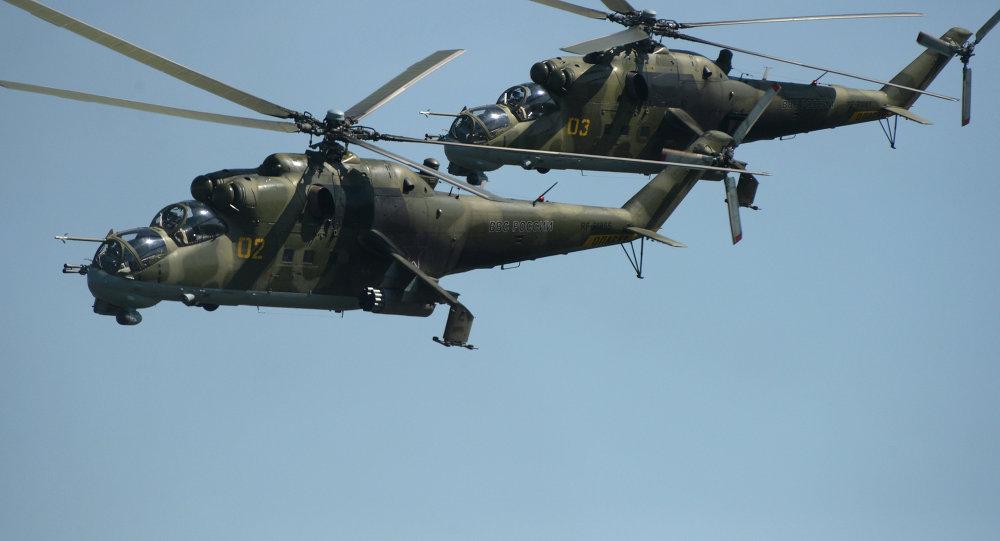 استفاده از هلیکوپترهای جنگی در عملیات حفظ صلح در قره باغ + ویدیو