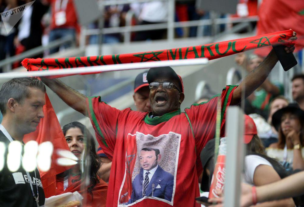 هواداران تیم ملی مراکش در بازی ایران - مراکش