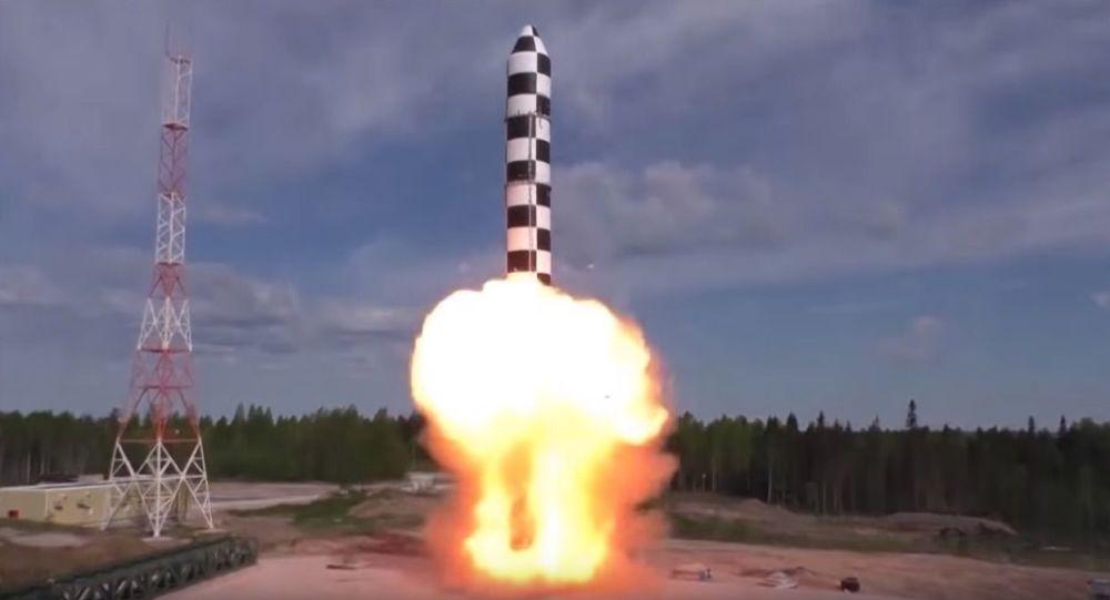 انتشار ویدیو آزمایشات راکت سنگین روسی سارمات