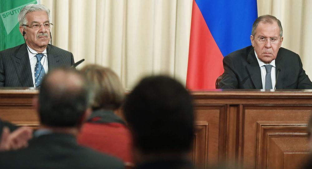 وزیران خارجه روسیه و پاکستان