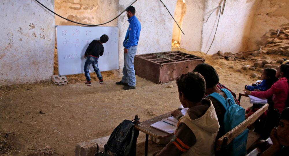 صنف درسی در مکتبی در سوریه