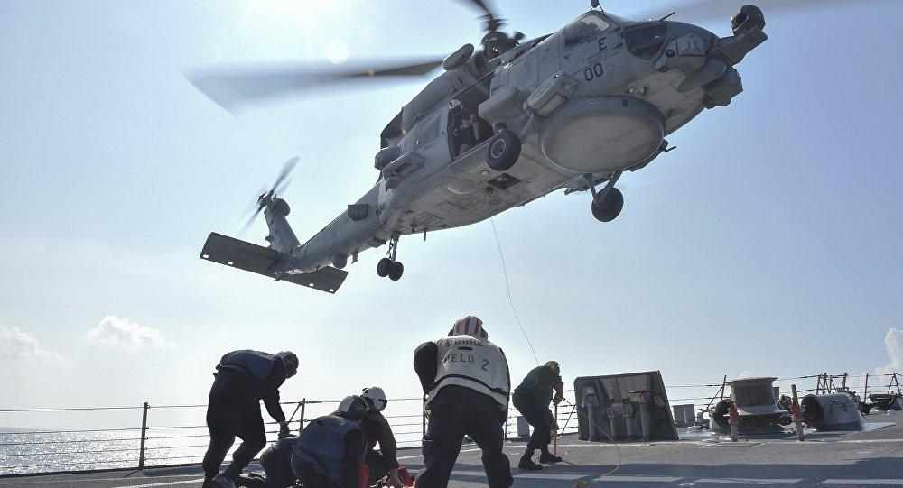 فرو افتادن بالگرد «نایت هاوک» نیروی دریایی امریکا در کوهستانهای کالیفرنیا