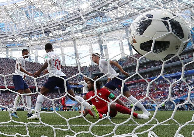 Soccer Football - World Cup - Group G - England vs Panama - Nizhny Novgorod Stadium, Nizhny Novgorod, Russia - June 24, 2018 England's John Stones celebrates scoring their fourth goal