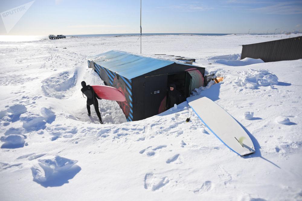 زمستان در ساحل خالکتیرسکی - شبهجزیره کامچاتکا، روسیه