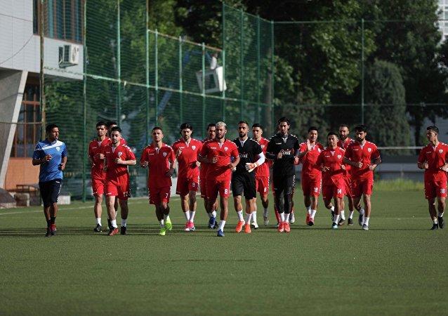 تمرینات تیم ملی فوتبال افغانستان در تاجیکستان
