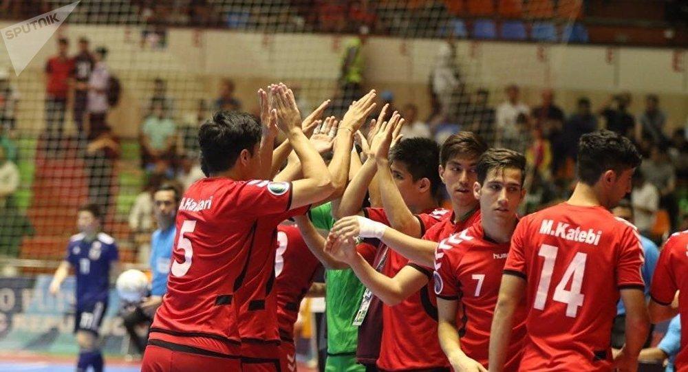 ملیپوشان فوتسال افغانستان در مسابقه با تیم ملی فوتسال جاپان در ایران