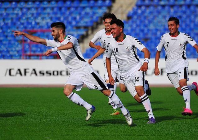 خوشحالی بازیکنان تیم ملی 19 سال افغانستان