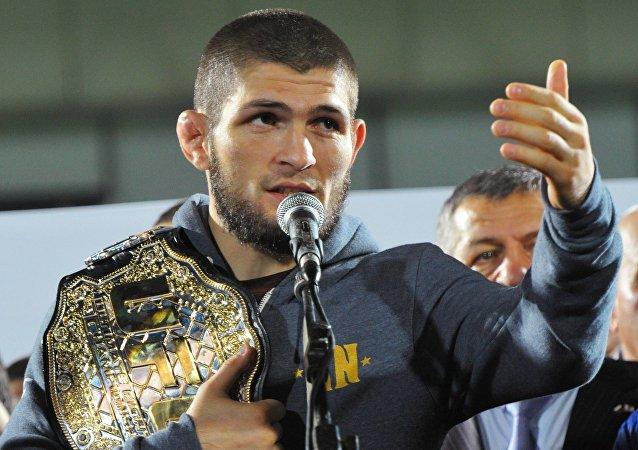 Russian Mixed Martial Arts Fighter Khabib Nurmagomedov