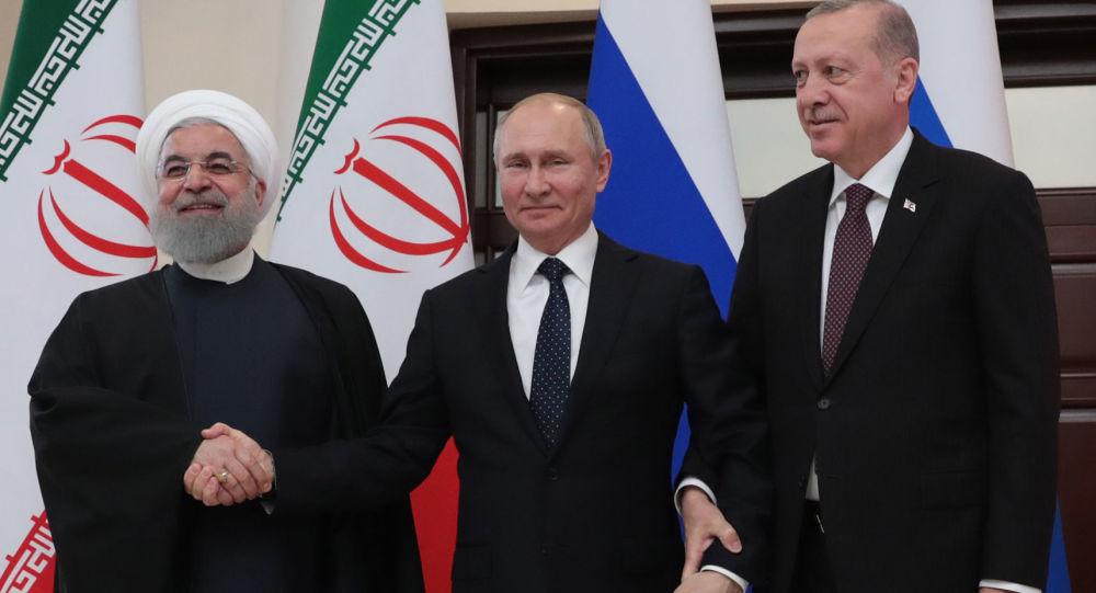 اشاره جالب پوتین به آیه قرآن در نشست با اردوغان و روحانی + ویدیو