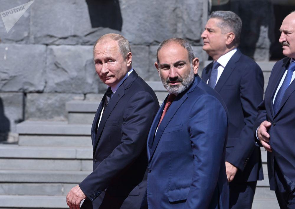 دیدار پوتین با صدراعظم ارمنستان و رئیس جمهور بلاروس