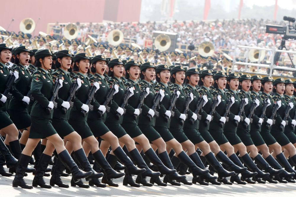رژه نظامی  در هفتادمین سالگرد تأسیس جمهوری خلق چین