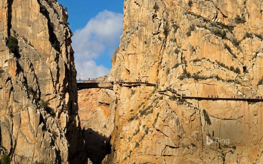 كامينيتو دل ری مشهور به مسیر پادشاه در ولایت مالاگا، اسپانیا