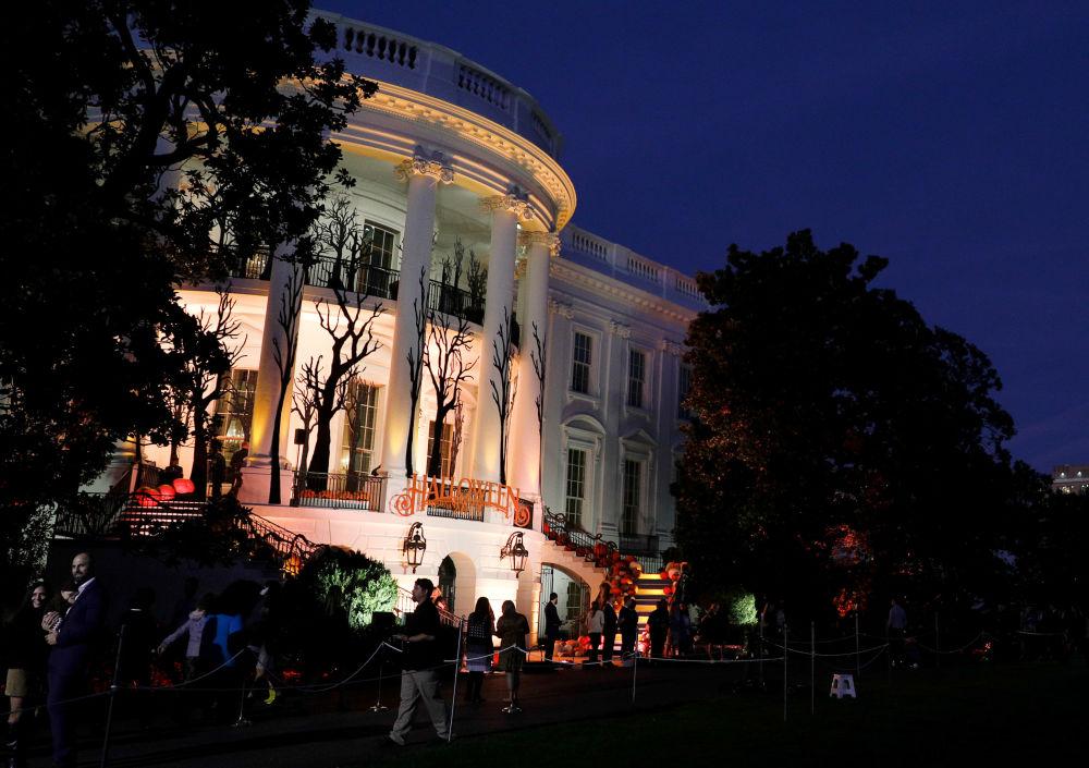 تزیین کاخ سفید به مناسبت جشن هالووین.