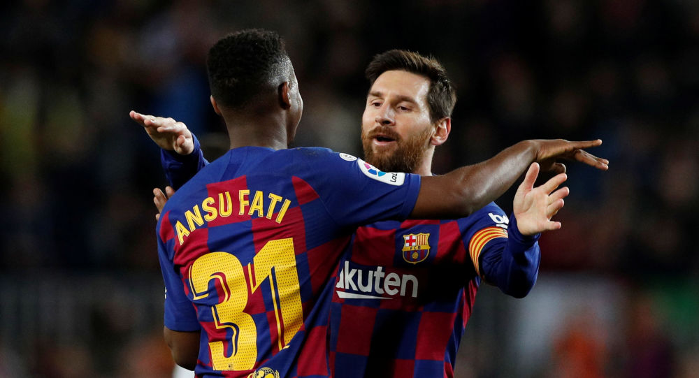 مسی و فاتی - بارسلونا