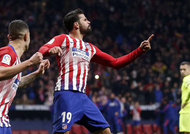 El futbolista del Atlético de Madrid, Diego Costa