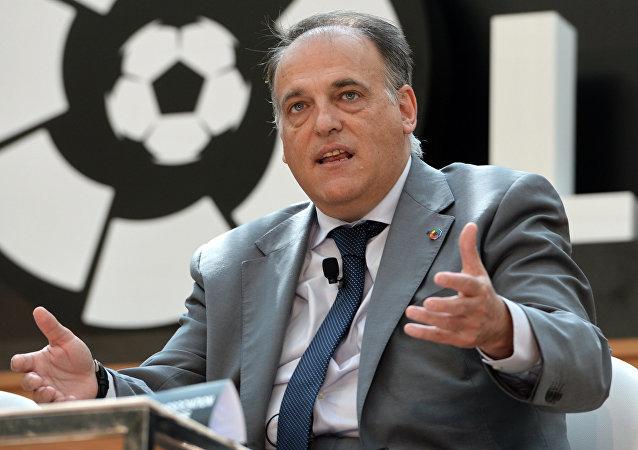 İspanya Profesyonel Futbol Ligi (LFP) Başkanı Javier Tebas,