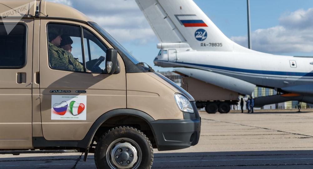 کمک انسان دوستانه داکتران نظامی روس به مردم به ایتالیا + ویدیو