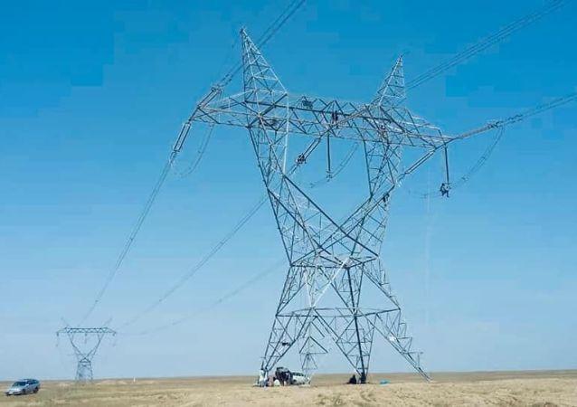 برشنا: برق وارداتی کابل و شماری از ولايات مسیر برق وارداتی قطع شد