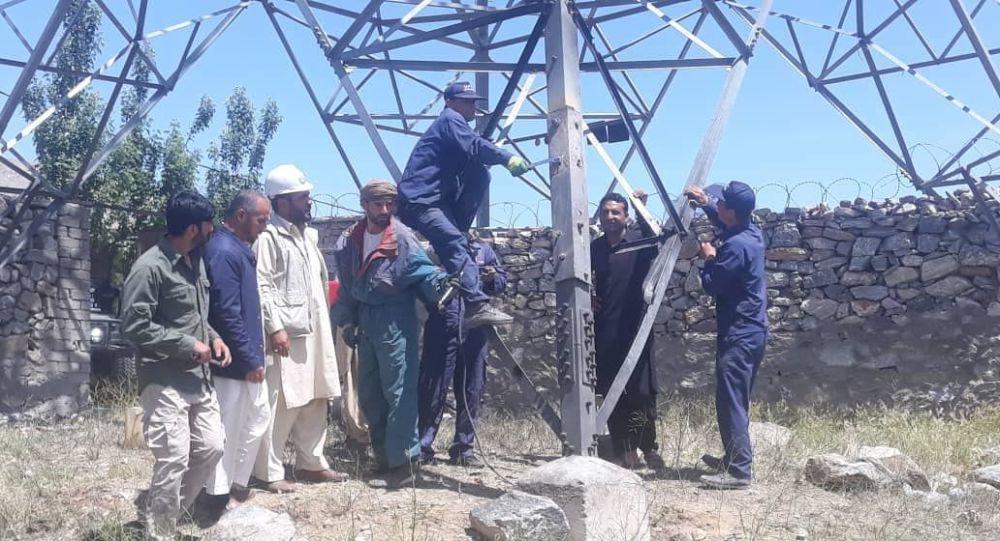کابل؛ یک لین برق وارداتی دوباره وصل شد