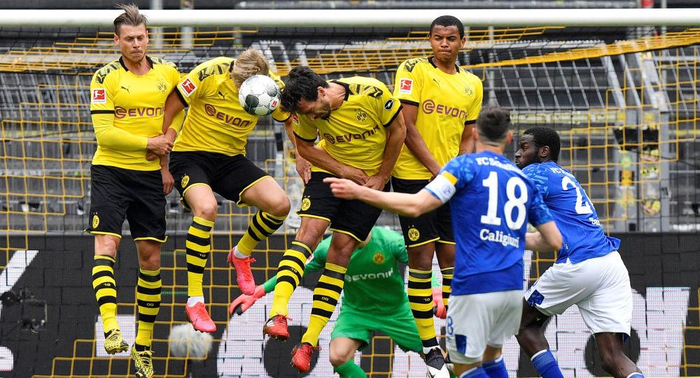 Bundesliga Spiel von Borussia Dortmund gegen Schalke 04 am 16. Mai 2020