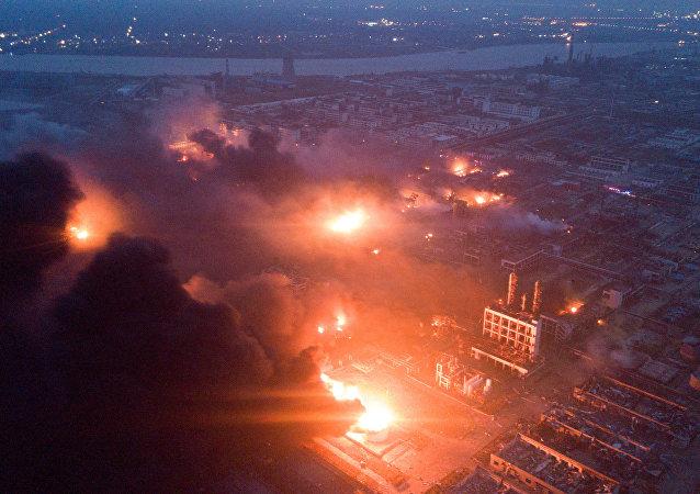 انفجار در کارخانه چین