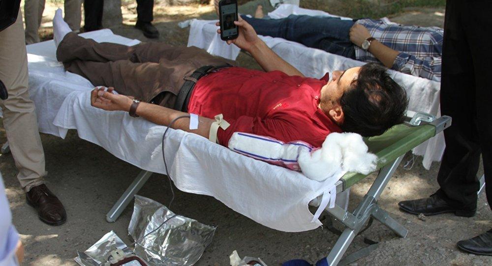 تجلیل از روز جهانی اهدای خون در کابل