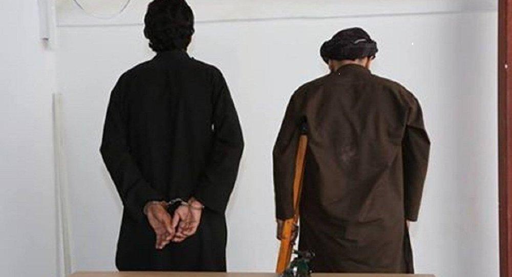 در فاریاب دو طالب که یکتن از آنها چادری زنانه داشت، دستگیر شدند