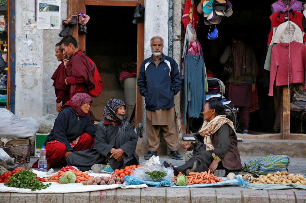 فروشنده سبزیجات در له